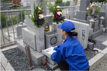 お墓の代理清掃